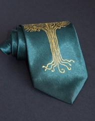 Green LOTR Tree Tie