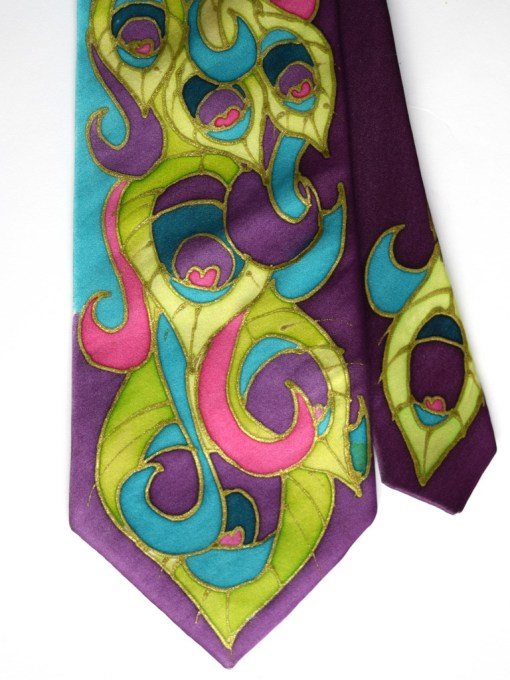Peacock Feathers Bright Tie