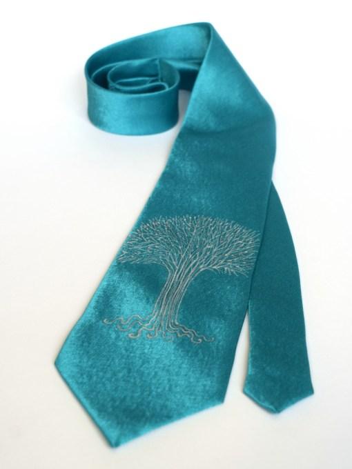 Teal Tree Tie