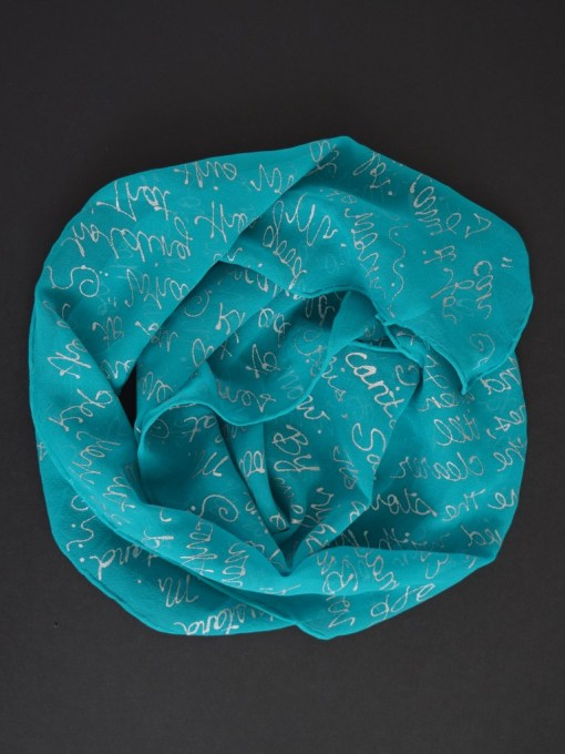 Teal LOTR Book Scarf Black