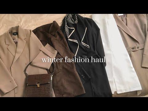 Brand One Piece 70% Sale Deuktem Howl⭐ Sale Information👛 Winterkleid, Rock, Daily Look, Winter Fashion Howl    Winter fahion haul 2021