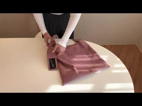 2021 Spring Tie Eco Bag / Spring New Corduroy Eco Bag Strap Directions