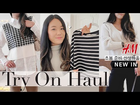 H&M试穿Hachen EchenM Shinsang Howl //光滑美丽的黑白春天准备工作,最佳针织毛衣裤搭配|  H&M New Haul |  CHRISTINA柠檬雪泥