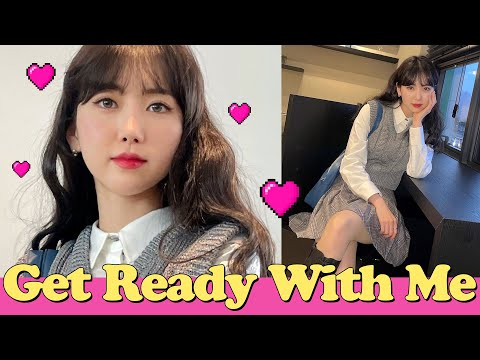 (eng) Get ready for teen preppy look 🎓🏫 The day my friend curled up GRWM High-teen preppy look    Minjeong Park