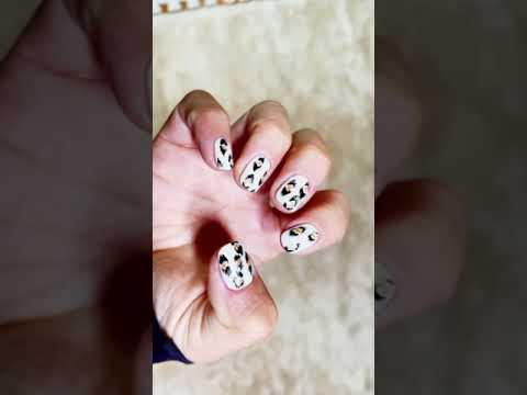 Leopard Pattern Nail Art New in 2021