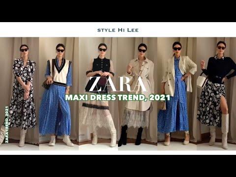 [ZARA] Zara 2021 Spring New Howl.  Рекомендации по выбору стиля для распродажи длинных цельнокроеных платьев / макси-платья