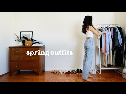 22 SPRING OUTFITS | *no talking* spring fashion lookbook 2021