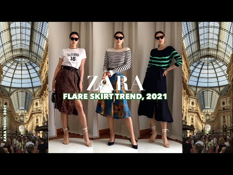 [ZARA]Zara 2021 Milan Travel Fashion Vol. 2, MODERN.  Spring new top-how/flare skirt/T-shirt/knit styling recommended
