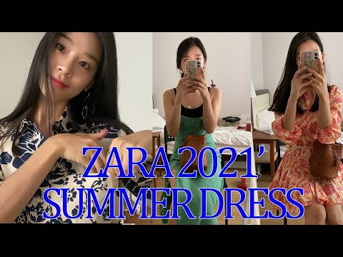 [ZARA HAUL] 2021 'Zara One Piece Howl🎀 Идеально подходит для 4 красивых платьев❤️ Zara One Piece завершает образ для отпуска!  Льняное платье Zara, платье с воротником в стиле Питера Пэна, платье с клетчатым рисунком