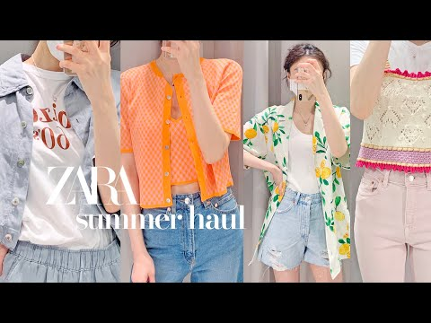 ZARA SS Zara's summer new Howl / 💚 The best color!  Last howl before the sale 💚/ Summer daily look / From jeans to fresh knitwear / ZARA haul Zara Howl
