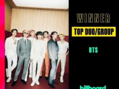 BTS telah memenangkan tiga 'Billboard Music Awards'…  'Duo/Grup Teratas', dll.