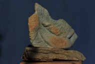 Métamorphose - sculpture de sirène - femme-poisson