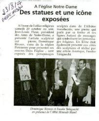 Des statues et une icône exposées - Dominique Rivaux
