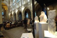 Sculptures à Notre Dame d'Alençon - Dominique Rivaux