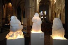 Sculptures Triptyque à Notre Dame d'Alençon