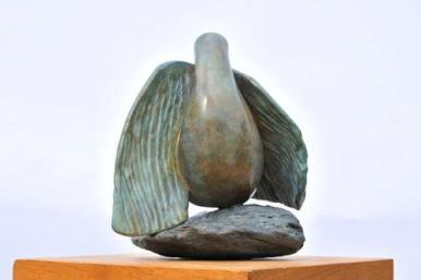 Sculpture de colombe, de l'oiseau de Dominique Rivaux