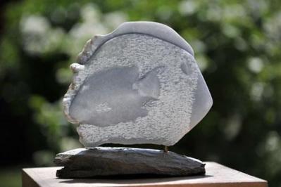 sculpture de poisson de Dominique Rivaux