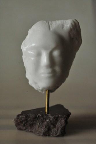 Sculpture de Faune - visage - masque -sentiment - humain - mythologie - Gypse de Maurienne