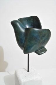 Sagesse - sculpture de l'oiseau de Dominique Rivaux