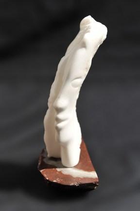 sculpture en albâtre - visage - tête - Rivaux