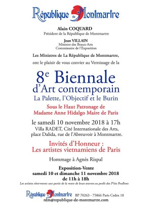 Biennale 2018 - invitation vernissage