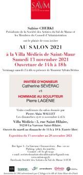 Invitation au Salon SAVM 2021 - verso