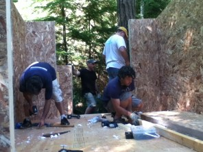 Still hard at work...but look at that shelter take shape!
