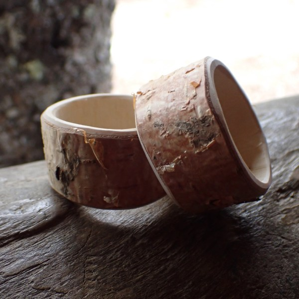Grace Napkin Rings from RivenJoiner.com are hand-carved from birch and maple branches, making the best use out of harvested trees!
