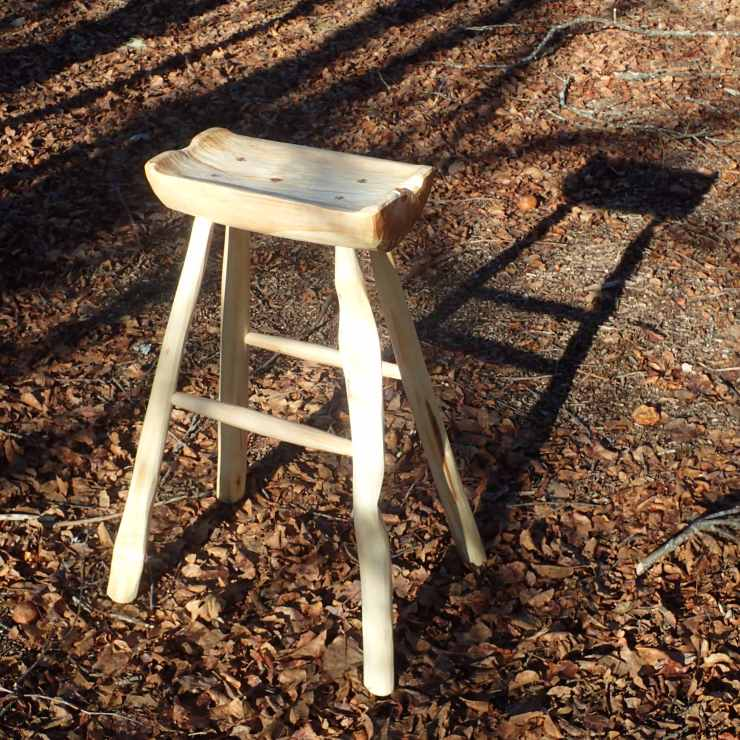 Hand-hewn maple and cottonwood stools from RivenJoiner.com.