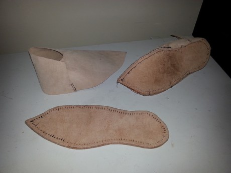 Shoes in process