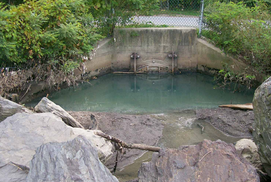 Beacon discharge sewage spill