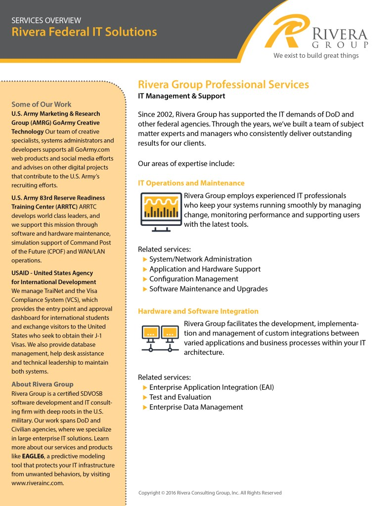 Rivera Federal IT Services: Overview