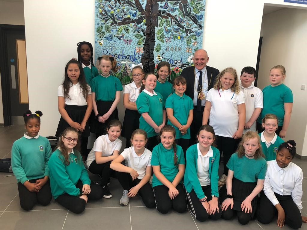Riverbank Pupils Attend the Official Opening of the New Tillydrone Campus