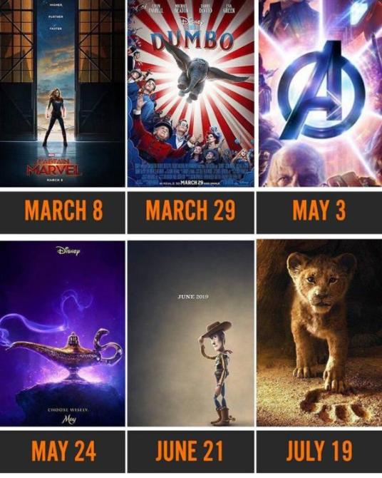 all of the disney movies coming out next year that you need to have