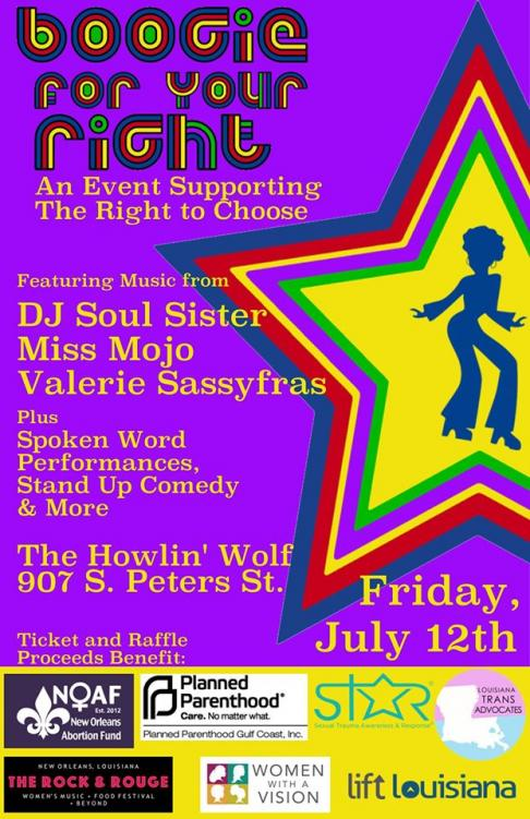 Howlin Wolf Hosts 'Boogie For Your Right:' A Show Supporting