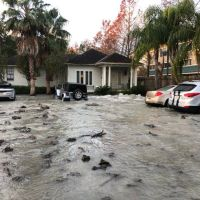 A 30-Inch Water Main Break Has Caused Street Flooding Uptown [Photos + Videos]