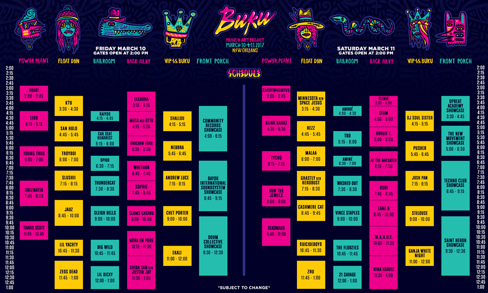 BUKU Music + Art Project Releases 2017 Full Schedule!