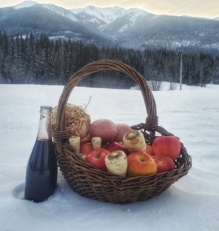 Nothing like a basket of harvest bounty on a winter day!