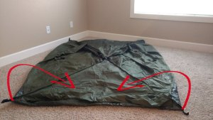 Lay backpacking tent flat
