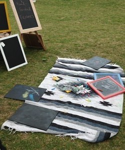 Black board Activity area at the fair