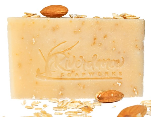 almond oatmeal goat milk soap product image
