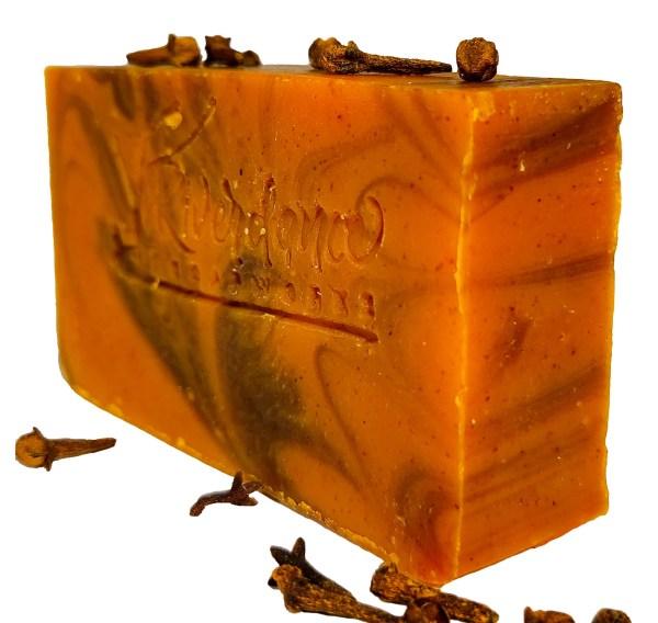 side image of vetiver clove soap