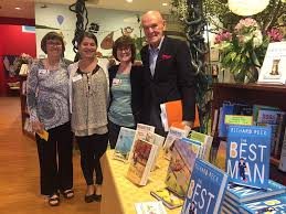 Broche with author, Richard Peck, 2017 Quail Ridge Books