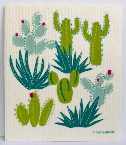 Cacti Swedish Dishcloth