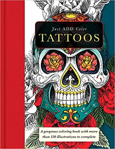 Just Add Color Tattoos Coloring Book