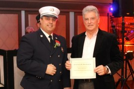Capt. Baycan Fideli and firefighter Marcel LeCann, top responder with 181 calls.