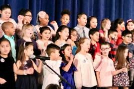 "Roanoke Avenue Elementary School third-graders perform ""If I Had a Hammer."""