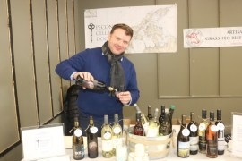 Aaron Bokros of Peconic Cellar Door, which offers wines by winemakers Ali Shaper and Robin Epperson-McCarthy.