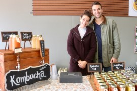Kumbacha connoisseurs Brianna and Joe Hernandez of The Ferm, based in Jamesport.