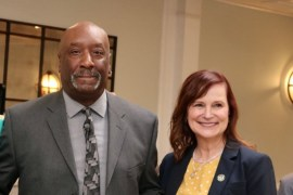 Highway Superintendent George Woodson and Councilwoman Catherine Kent